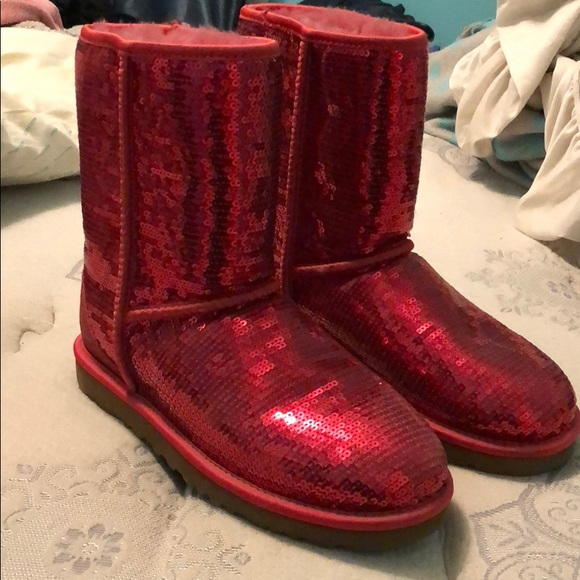 1f2a2a2933a Red Sequin Ugg Boots